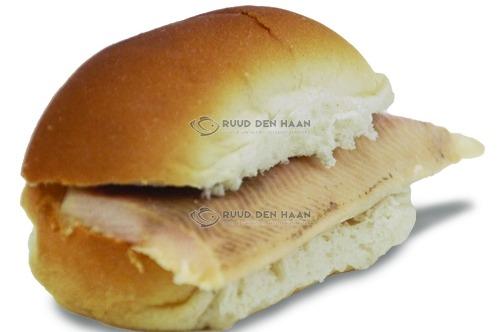 Belegd broodje met forel