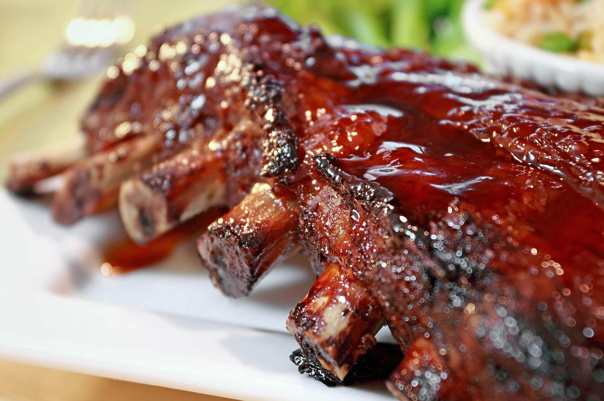 BBQ spare-ribs pittig